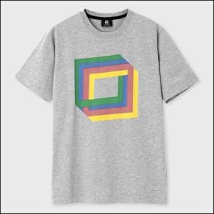 ポールスミス ポール・スミス Cube プリントTシャツ ライトグレー L
