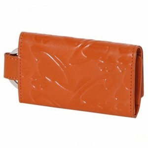 Vivienne Westwood ヴィヴィアン ウエストウッド 正規品 WATER ORB エンボス キーケース オレンジ