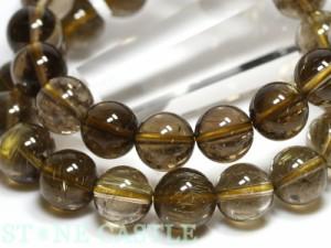 ☆高品質☆【天然石 ブレスレット】スモーキールチルクォーツ (3A) (約11〜11.5mm) パワーストーン
