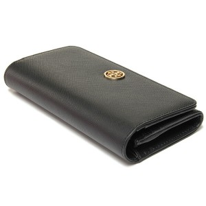 【あす着】トリーバーチ 財布 TORY BURCH 50009078 001 ROBINSON ENVELOPE CONTINENTAL  長財布 BLACK