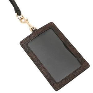 【あす着】コーチ カードケース アウトレット COACH F63274 IMAA8 シグネチャー ランヤード IDケース パスケース  ブラウン/ブラック