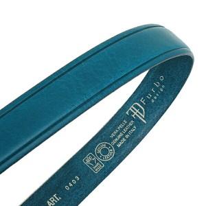 【あす着】フルボデザイン ベルト メンズ Furbo design FBI005 イタリアンレザーベルト サイズ調整可能 ベルト BLUE
