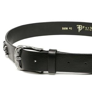 フルボデザイン ベルト メンズ Furbo design FBI007 イタリアンレザーベルト サイズ調整可能 ベルト BLACK