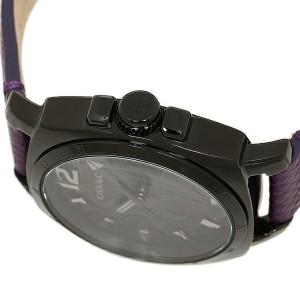 コーチ 時計 レディース COACH 14502040 BOYFRIEND MINI ボーイフレンドミニ シグネチャー 腕時計 ウォッチ ブラック/パープル