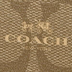【あす着】コーチ 財布 アウトレット COACH F63975 IMBDX シグネチャー スモール ダブル ジップ コインケース 小銭入れ カーキ/ブラウン
