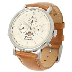 【あす着】ヴィヴィアンウエストウッド メンズ腕時計 VIVIENNE WESTWOOD VV164SLTN ホワイト ゴールド ブラウン