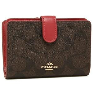【あす着】コーチ 財布 アウトレット COACH F23553 シグネチャー ミディアム コーナー ジップ ウォレット 二つ折り財布