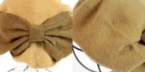 2個1000円引き/[メール便]帽子/ビッグリボンフェルトベレー帽/レディース cber0181