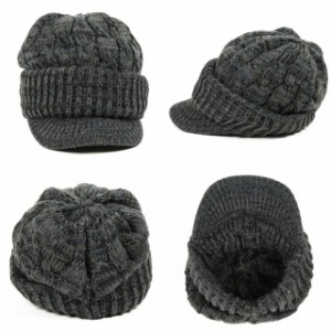 2個1000円引き/[メール便]帽子/MIXケーブル編みジープつば付きニット帽 ckni0202 メンズ