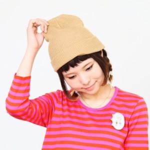 セール/2個1000円引き/[メール便]帽子/シンプルコットンニット帽/メンズレディース ckni0175