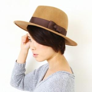 2個1000円引き/帽子/太リボン巻フェルトつば広中折れハット中折れ帽 cnak0500 メンズ