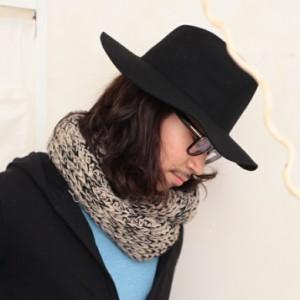 2個1000円引き/帽子/シンプルウールフェルトハットつば広中折れ帽フロッピーハット/メンズレディース cnak0558