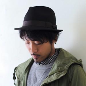 2個1000円引き/帽子/シンプル無地グログラン巻き短めつば中折れ帽子フェルトハット/メンズレディース cnak0586