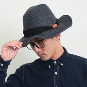 2個1000円引き/帽子/フェルト風カジュアルつば広UVハット中折れハット中折れ帽/レディース inak0059