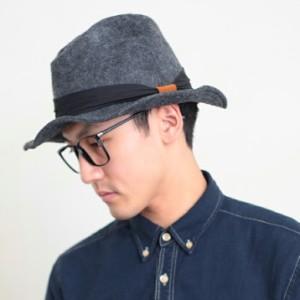 2個1000円引き/帽子/カジュアル中つばシンプルフェルトハット中折れハット中折れ帽/メンズレディース inak0091