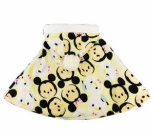 【メール便不可】ディズニーツムツム ベビー服 もこもこフリース マント ベビーポンチョ 50-70cm