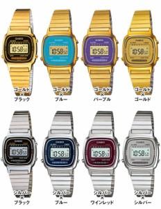 【3ヵ月保証】CASIO カシオ デジタル アンティーク ゴールド レトロ かわいい レディース 腕時計 LA670 【ポスト投函】
