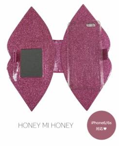 ハニーミーハニー HONEY MI HONEY lip book iphonecase iphone6/6s iphoneケース 手帳型 可愛い 携帯ケース 16A-AC-13