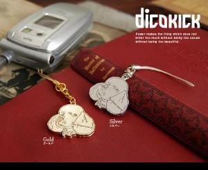 dicokick 上品/彫刻デザイン/チャーム/犬/ドッグ/アニマル/動物/携帯電話/プードルストラップ