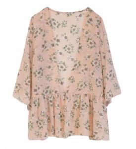e-zakkamania stores2017SSコーデ★透け感のある花柄なら 重ね着コーデも軽やかに…♪