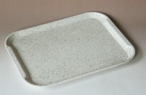 36cm ペット樹脂 ノンスリップ トレー 石目 ブラウン(OPP入り)すべり止め(ノンスリップ)・食洗機・乾燥機・電子レンジ対応