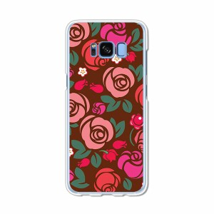 Galaxy S8 SCV36 SC-02J共用 ハードケース/カバー 【薔薇 PCクリアハードカバー】 スマートフォンカバー・ジャケット