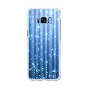 Galaxy S8 SCV36 SC-02J共用 ハードケース/カバー 【B.Bストライプ PCクリアハードカバー】 スマートフォンカバー・ジャケット