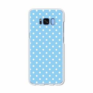 Galaxy S8 SCV36 SC-02J共用 ハードケース/カバー 【B:Wドット PCクリアハードカバー】 スマートフォンカバー・ジャケット
