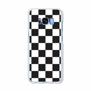 Galaxy S8 SCV36 SC-02J共用 ハードケース/カバー 【チェッカーフラッグ PCクリアハードカバー】 スマートフォンカバー・ジャケット
