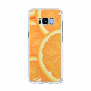Galaxy S8 SCV36 SC-02J共用 ハードケース/カバー 【フレッシュオレンジ PCクリアハードカバー】 スマートフォンカバー・ジャケット