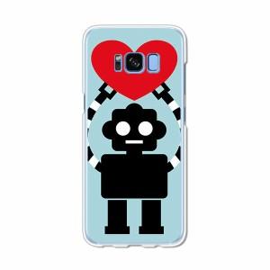 Galaxy S8 SCV36 SC-02J共用 ハードケース/カバー 【I愛Robot PCクリアハードカバー】 スマートフォンカバー・ジャケット