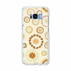 Galaxy S8 SCV36 SC-02J共用 ハードケース/カバー 【フラワーD PCクリアハードカバー】 スマートフォンカバー・ジャケット