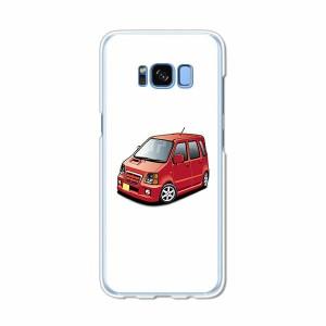 Galaxy S8 SCV36 SC-02J共用 ハードケース/カバー 【SRワゴン PCクリアハードカバー】 スマートフォンカバー・ジャケット