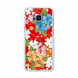 Galaxy S8 SCV36 SC-02J共用 ハードケース/カバー 【和柄F PCクリアハードカバー】 スマートフォンカバー・ジャケット