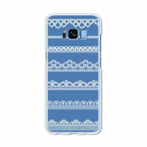 Galaxy S8 SCV36 SC-02J共用 ハードケース/カバー 【レース模様 PCクリアハードカバー】 スマートフォンカバー・ジャケット