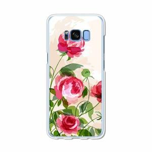 Galaxy S8 SCV36 SC-02J共用 ハードケース/カバー 【薔薇絵画 PCクリアハードカバー】 スマートフォンカバー・ジャケット