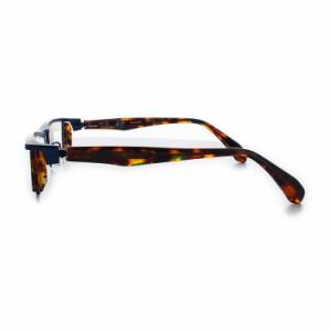 【送料無料】レスザンヒューマン Strange0 8080-NV-HA 55サイズ ブルー ハバナ メガネ 眼鏡 日本製 Lessthanhuman