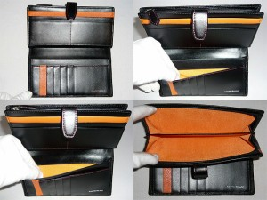 カステルバジャック ドロワットシリーズ 長財布 二つ折り長財布 ブラック、オレンジ、グリーン071612