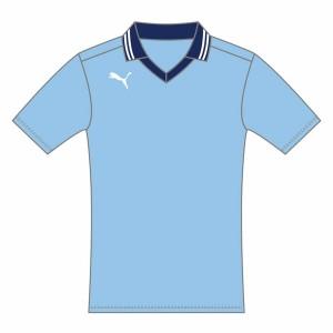 襟付きジュニア半袖ゲームシャツ 05SAXE-NAVY 160 ( 903301-05-160 / JSP10267374 )