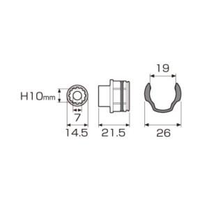 オフセットアダプターAOA(-)19用 交換ヘッド10mm ( AOA-1910 オフセットアダプターAOA(-)19用 交換ヘッド10mm / ANX10363760 )