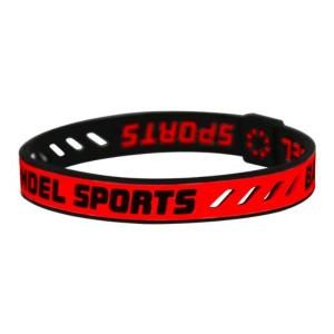 #4580094436023 BANDEL SPORTS string bracelet Red×Black (JO)