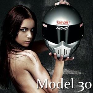 【送料無料】【SIMPSON】シンプソンヘルメット M30 マットブラック モデル30 Model30 復刻版 国内仕様 SG規格 フルフェイス オートバイ用