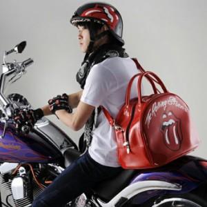 【送料無料】【ダムトラックス】ローリングストーンズ ヘルメットバッグ 2WAY ショルダーバッグ エナメルバッグ