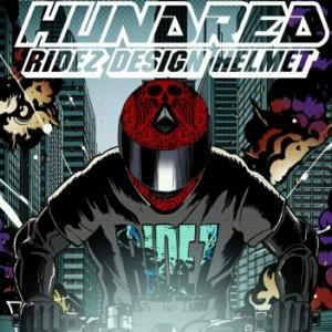 RIDEZ HELMET HUNDRED ハンドレッド専用レインボーシールド単品 交換用ミラーシールド