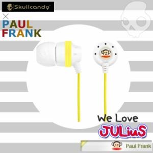 【特価】【即納!】【SKULLCANDY】Ink'd Paul Frank Yellow/White ポールフランクコラボモデルイヤホン インクド