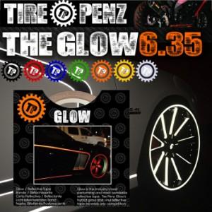 【送料無料】【TIRE PENZ】THE GLOW グロウ 6.35mm×9M リフレクトラインテープ 保護接着剤 リムステッカー ホイール タイヤペンズ