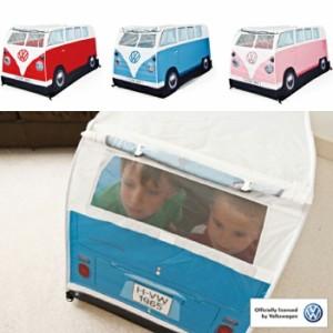 【WONDERISE】ワンダライズ フォルクスワーゲンバス型キッズプレイテント 公式ライセンス UV加工 防水加工 子供用テント