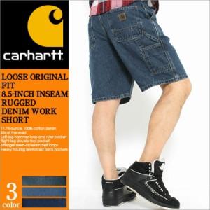 Carhartt カーハート ハーフパンツ メンズ デニム ペインター ジーンズ アメカジ ストリート 大きいサイズ (b28)