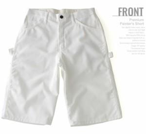 Dickies ディッキーズ ハーフパンツ メンズ ペインターパンツ 白 ホワイト デニム ジーンズ アメカジ 大きいサイズ (wr820)