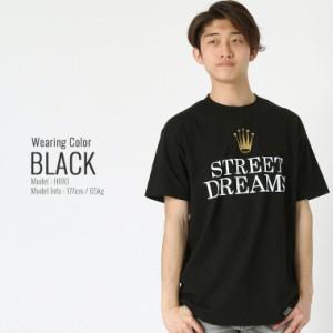 STREET DREAMS ストリートドリームス tシャツ メンズ 半袖 ストリート 大きいサイズ メンズ 半袖tシャツ メンズ ロゴtシャツ